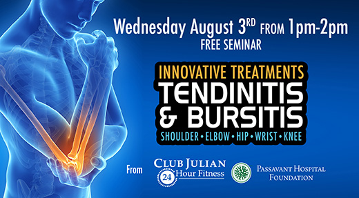 August 3 Tendinitis and Bursitis Seminar