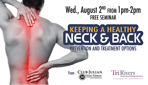 Treat and Prevent Neck and Back Pain Seminar