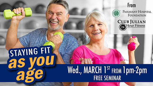 Staying Fit As You Age Event