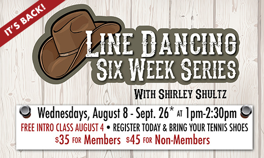 Line Dancing 6-Week Series Starts Aug. 8