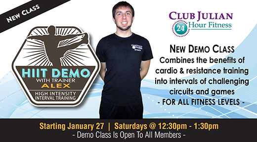 New HIIT DEMO class with Triainer Alex