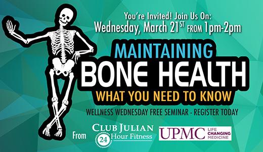 Strong, Healthy Bones Seminar, March 21