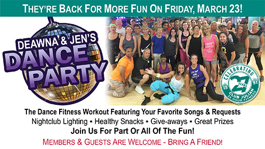 Deawna and Jen's Dance Party Returns March 23