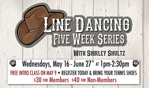Line Dancing 5-Week Series Starts May 16