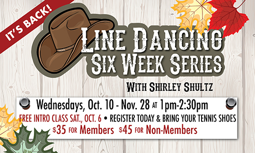Line Dancing 6-Week Series Starts Oct. 10
