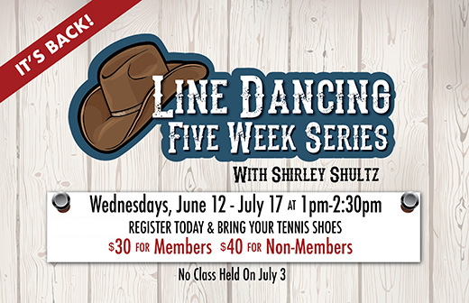 Line Dancing 5-Week Series Starts June 12