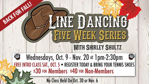Line Dancing 5-Week Series Starts October 9