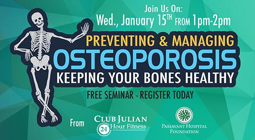 Osteoporosis Seminar Jan. 15