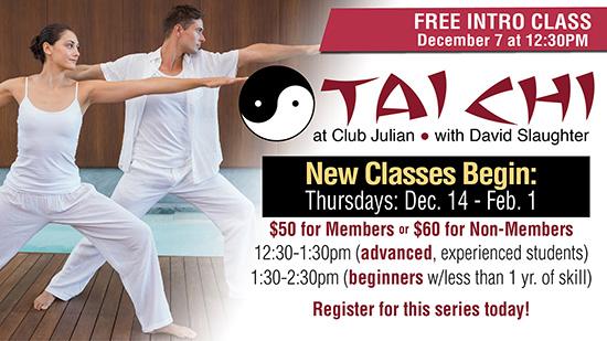 TaiChi Free Session Dec. 7!